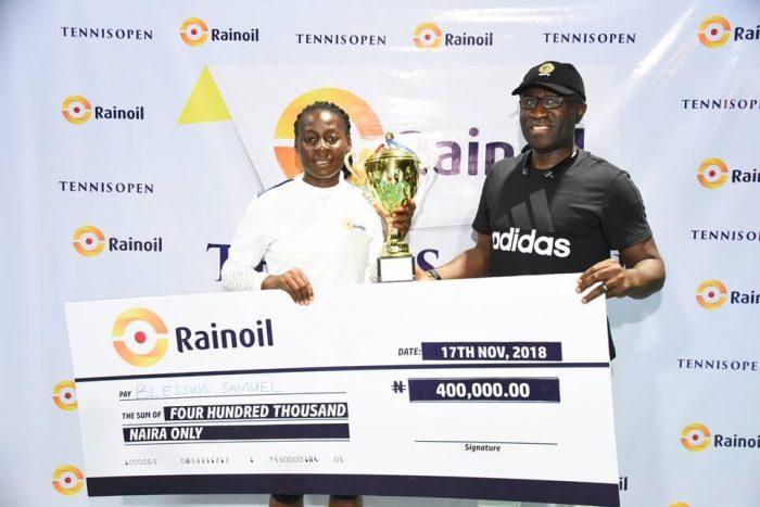 Blessing Samuel stuns Christie Agugbom to claim Rainoil Open title