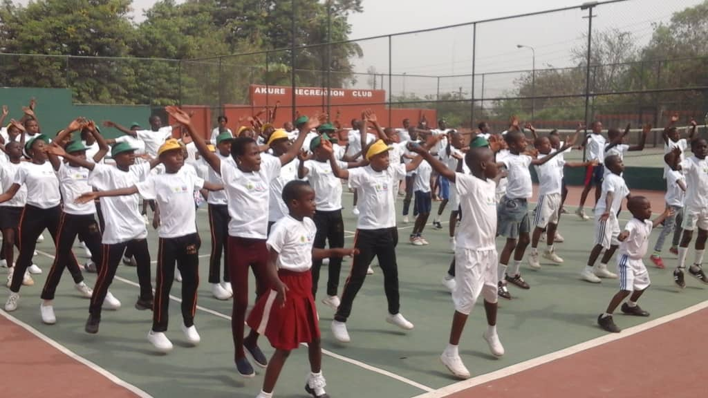 The Chevron Tennis Clinic in pictures
