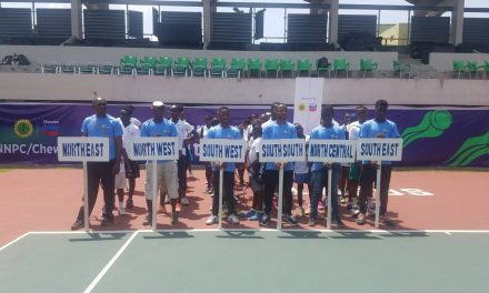 Results from Day 1 of Chevron Junior Tennis Championships in Lagos