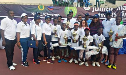 Youngsters shine bright at Chevron Junior Tennis Championships in Lagos