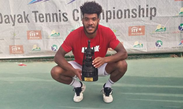 Tom Jomby powers past Kalenichenko to claim Dayak Tennis C'ship title in Abuja