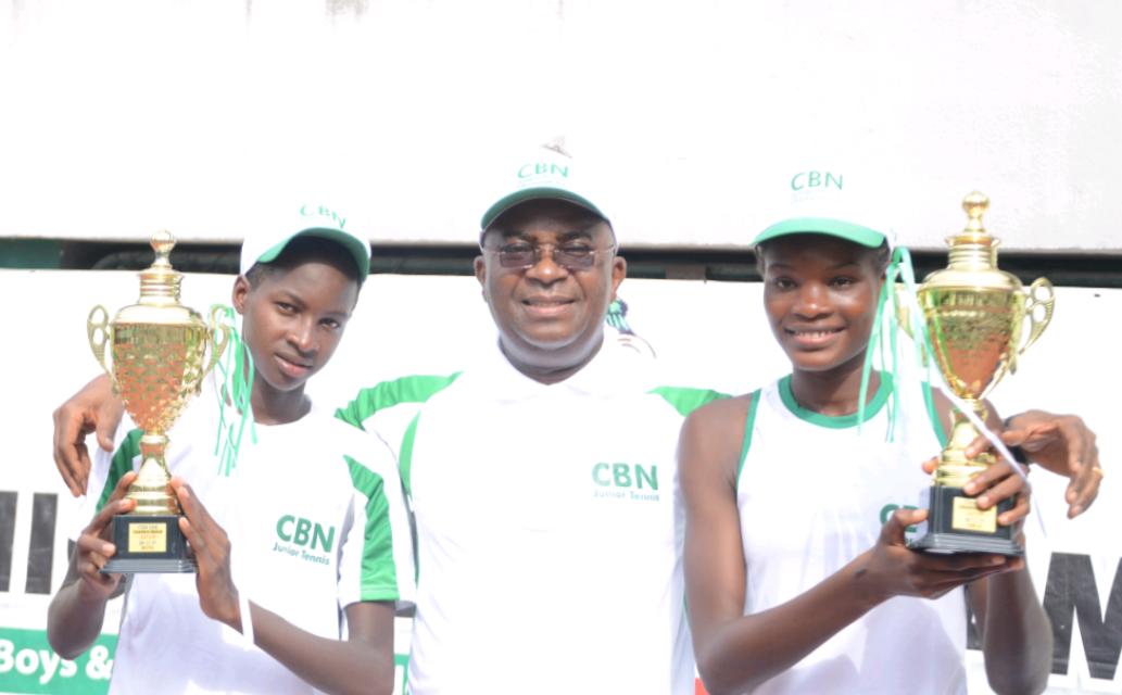 Suleiman Ibrahim, Omolade Aderemi among winners at CBN Junior Tennis Championships in Lagos