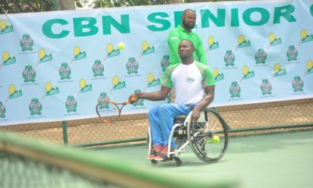 CBN Senior Open: Wasiu Yusuf makes Wheelchair Tennis Final, will battle Alex Adewale