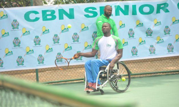 CBN Senior Open: Wasiu Yusuf makes Wheelchair Tennis Final, will battle Alex Adewale