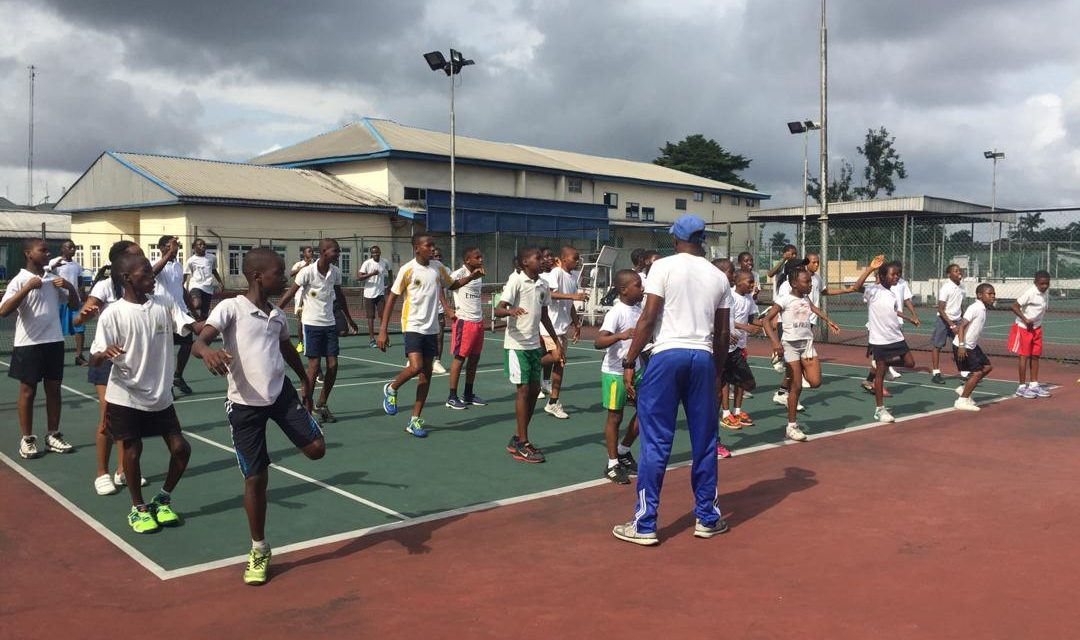 Catch Them Young tennis clinic holds in Port Harcourt