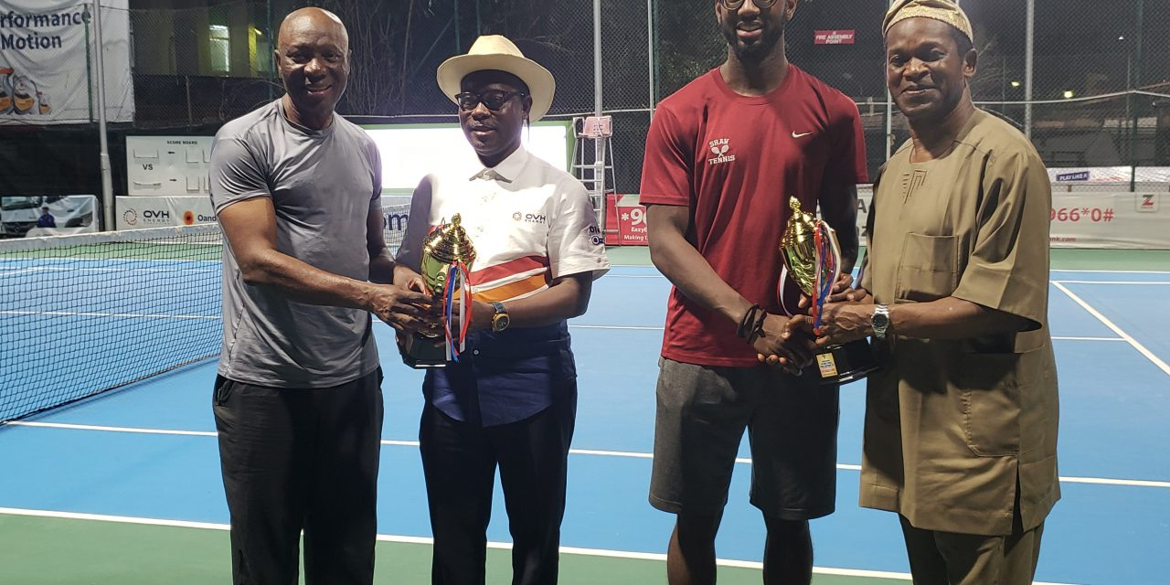 Winners emerge in inaugural OVH Energy tennis tournament in Ikoyi