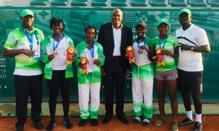 Pictures from medals presentation at African Games in Rabat
