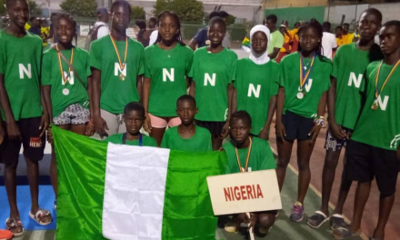 Team Nigeria finish third at African Junior Championships in Lome