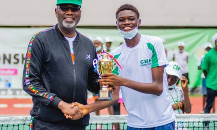 14th CBN Junior Tennis Championship ends with Ekpenyong, Udoffa, Ogunsakin, others winning big.