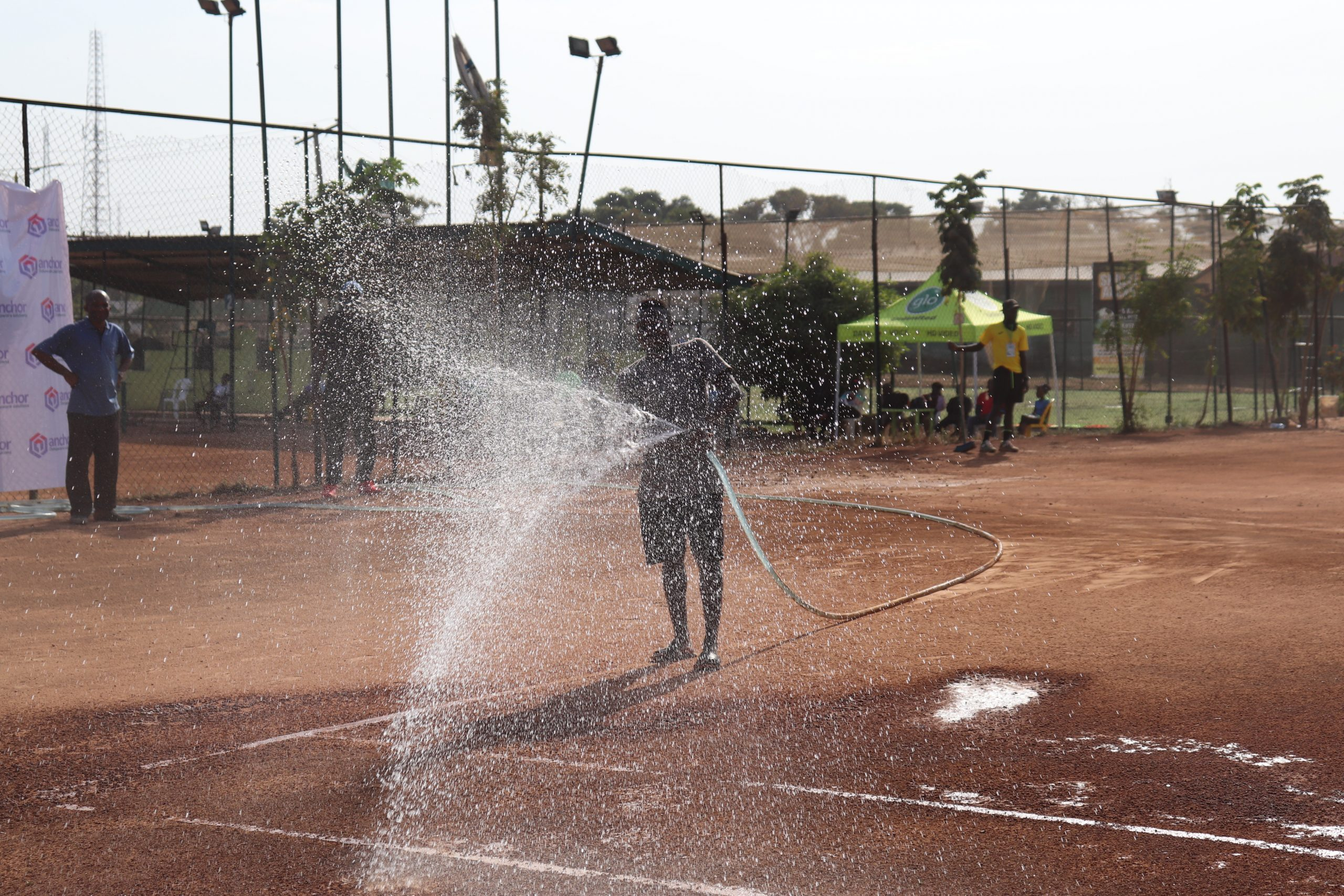 Groundsman Wetting the Court scaled