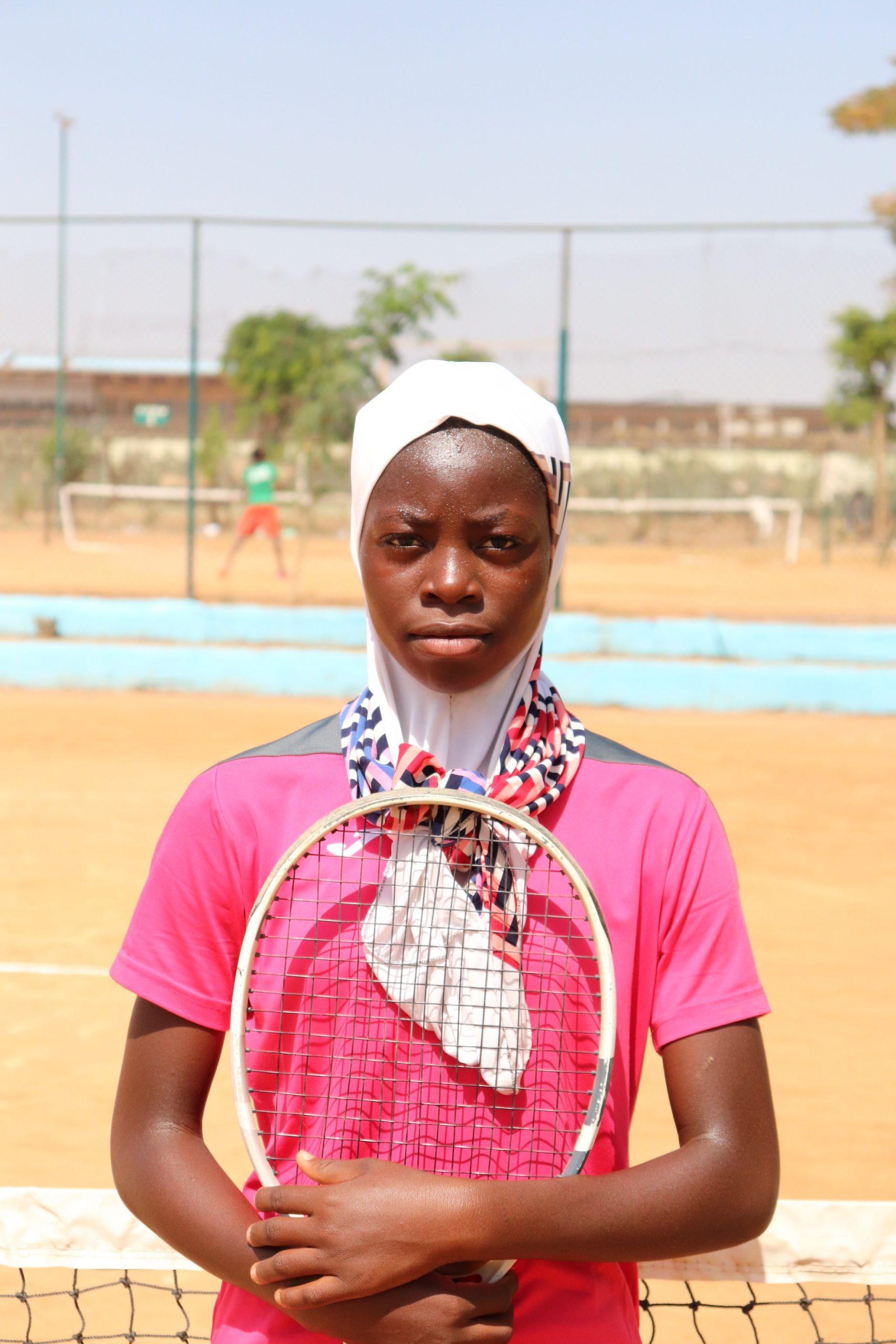 Salamatu Haruna after her victory scaled